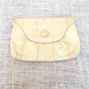 Vintage Ivory Genuine Snakeskin Envelope Purse